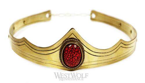 Gold Royal Crown with Dragon/'s Eye Stone for King//Queen Medieval//Tiara//Jewelry