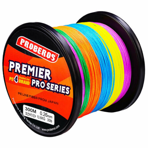 300M//328Yards Super Strong PE Spectra Braided Sea Fishing Line 4 Strands 6-100LB