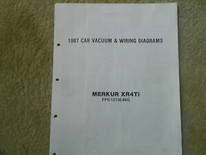 1987 ford merkur xr4ti wiring diagrams ebay rh ebay ie Mercury Grand Marquis Wiring Diagram 2012 Dodge Avenger Wiring-Diagram