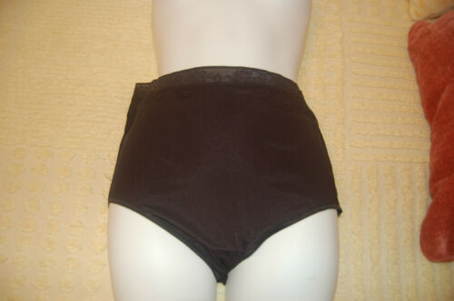 3-PAIR VINTAGE SHEER NYLON FULL BRIEF SHADOWLINE PANTIES SIZE 6-11;  #17042