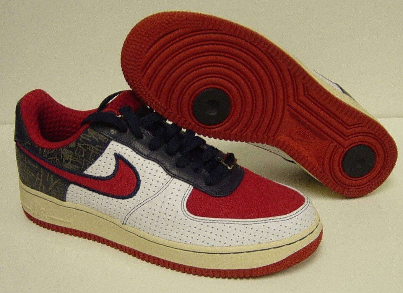NEW Mens NIKE Air Force 1 Premium '07 315180 161 Red White bluee Sneakers shoes