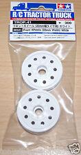 Tamiya 56541 Front Wheels (22mm Wdith) White (King/Grand Hauler/Globe Liner) NIP