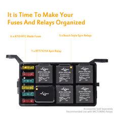 Auto Car Fuse Relay Holder Box Relay Socket 6 Relay 6 ATC/ATO Fuses Universal
