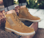 thumbnail 2 - Mens Fashion Riding Boots High Top Lace Up Round Toes Solid Autumn Ankle Booties