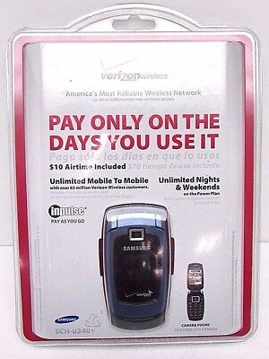 Samsung Snap SCH-U340 Verizon Inpulse Pay As You Go Cell Phone NEW  635753471793 | eBay