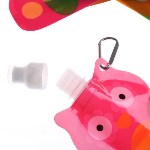 Portable Eco Friendly Foldable Cartoon Animal Water Bag Kid Travel Drink Bottle.
