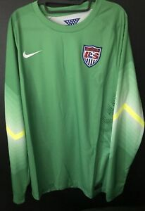 3f2b0f48061 New Size XL Nike 2014 USA Soccer Green Dri Fit Goal Keeper Jersey ...