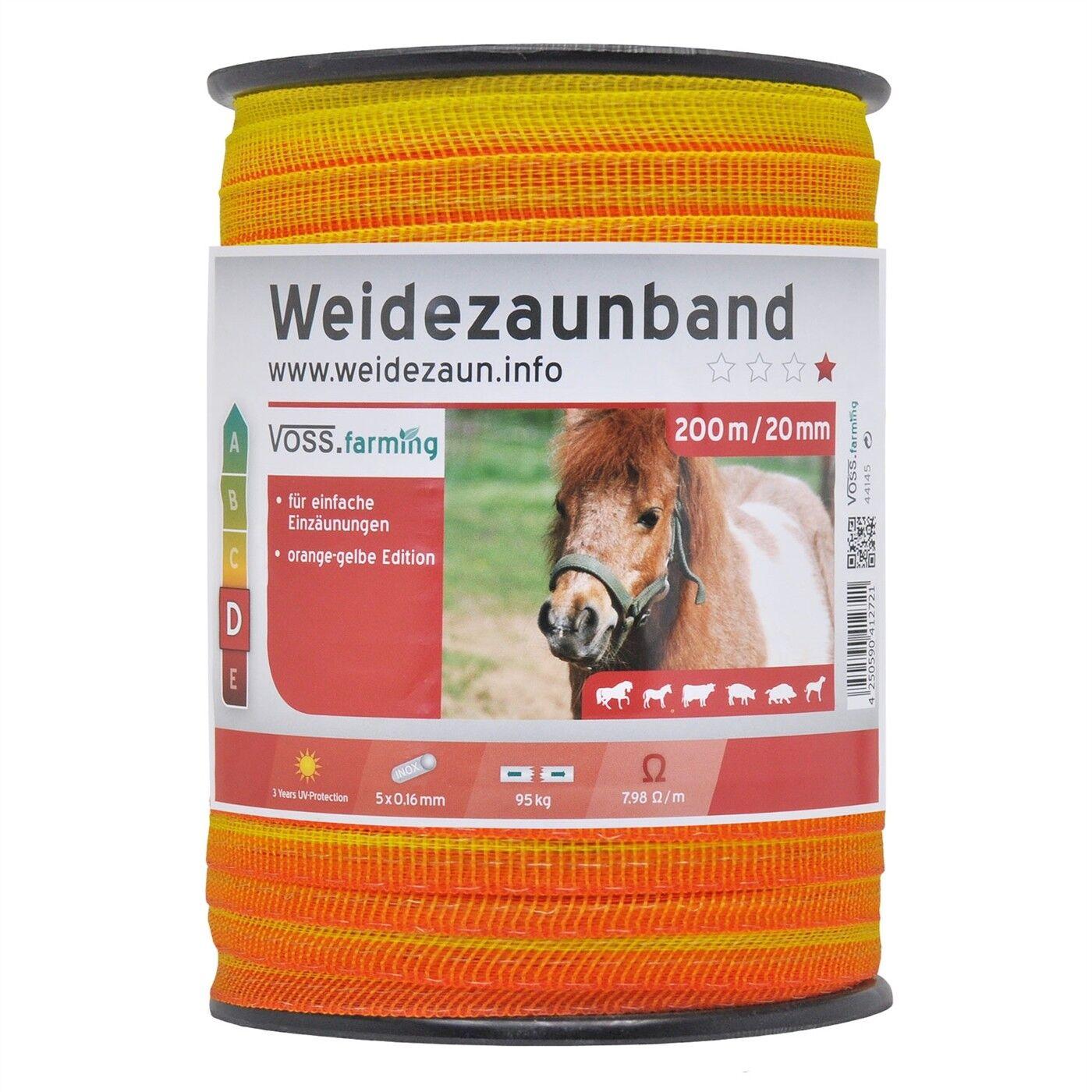 200-2000m 20mm Weidezaun Band 5x0 16 16 16 Niro Elektrozaun Breitband Pferde Pony c272a1