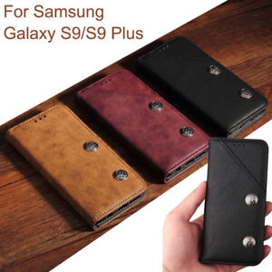 size 40 e565d 55426 Details about Luxury Flip Leather Stand Holder Wallet Case Cover For  Samsung Galaxy S9/S9+ Lot