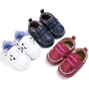 Baby Boy Girl Shoes Leather Crib Shoes Soft Sole Shoes Sneakers Walking Children