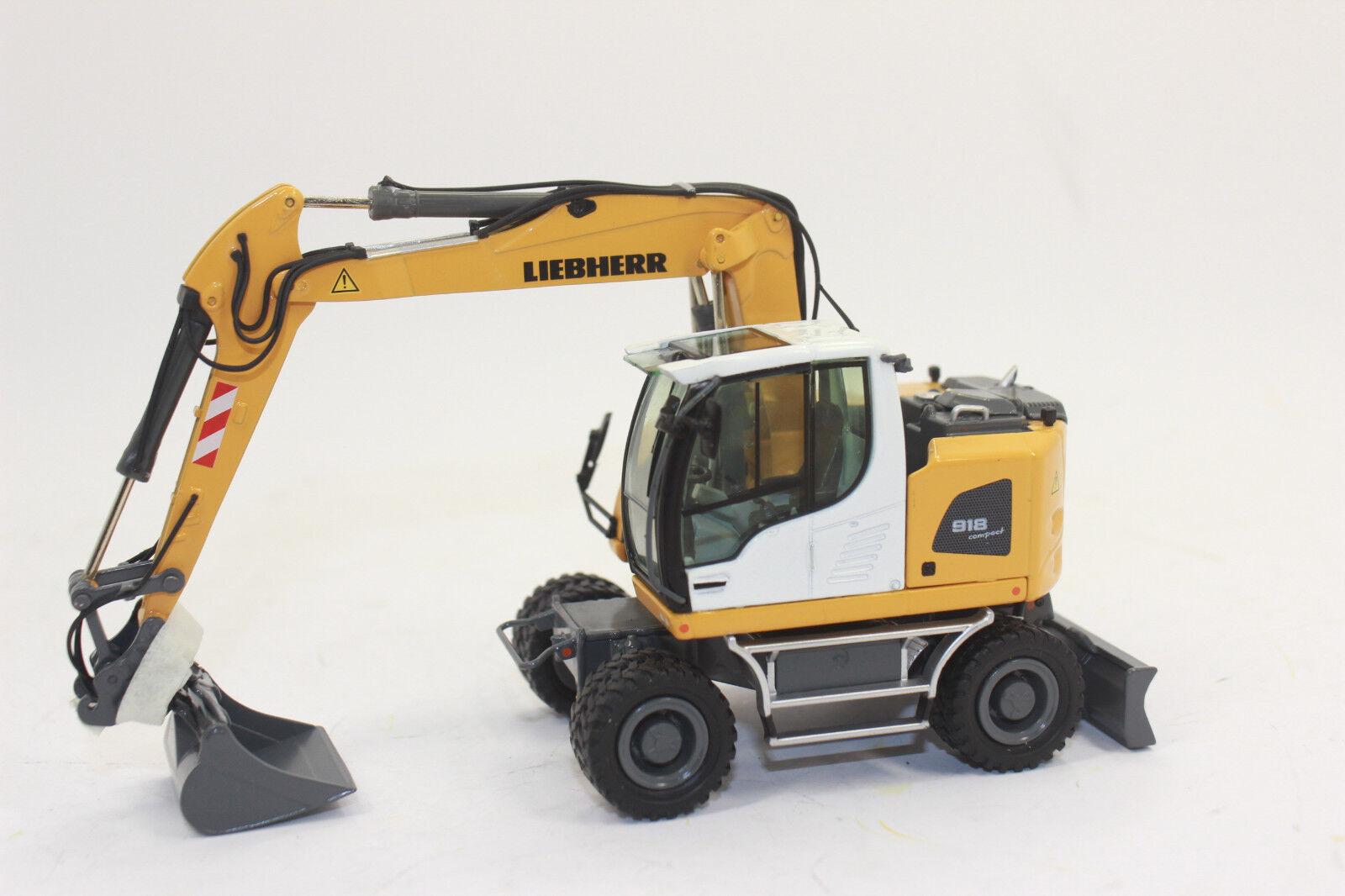Nzg 943 Liebherr a 918 Compact Scavatrice Escavatore Gommato 1 50 Nuovo con