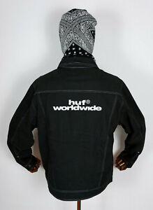 Huf Worldwide Skateboard Jacket Jacke Jeans Lincoln Trucker Black in M