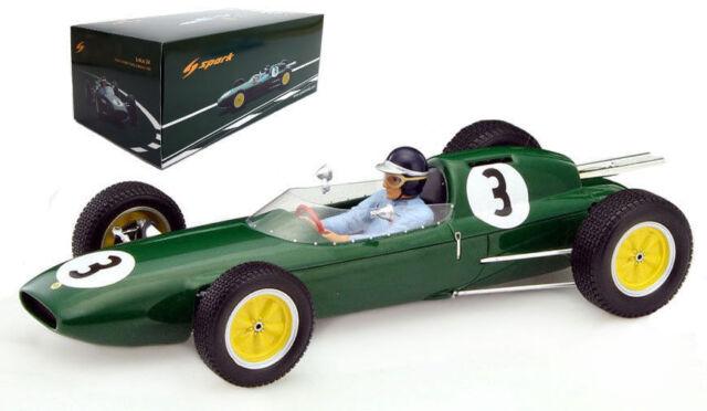 Jim Clark 1//43 Scale Spark S1840 Lotus 18 #14 3rd Portugal GP 1960