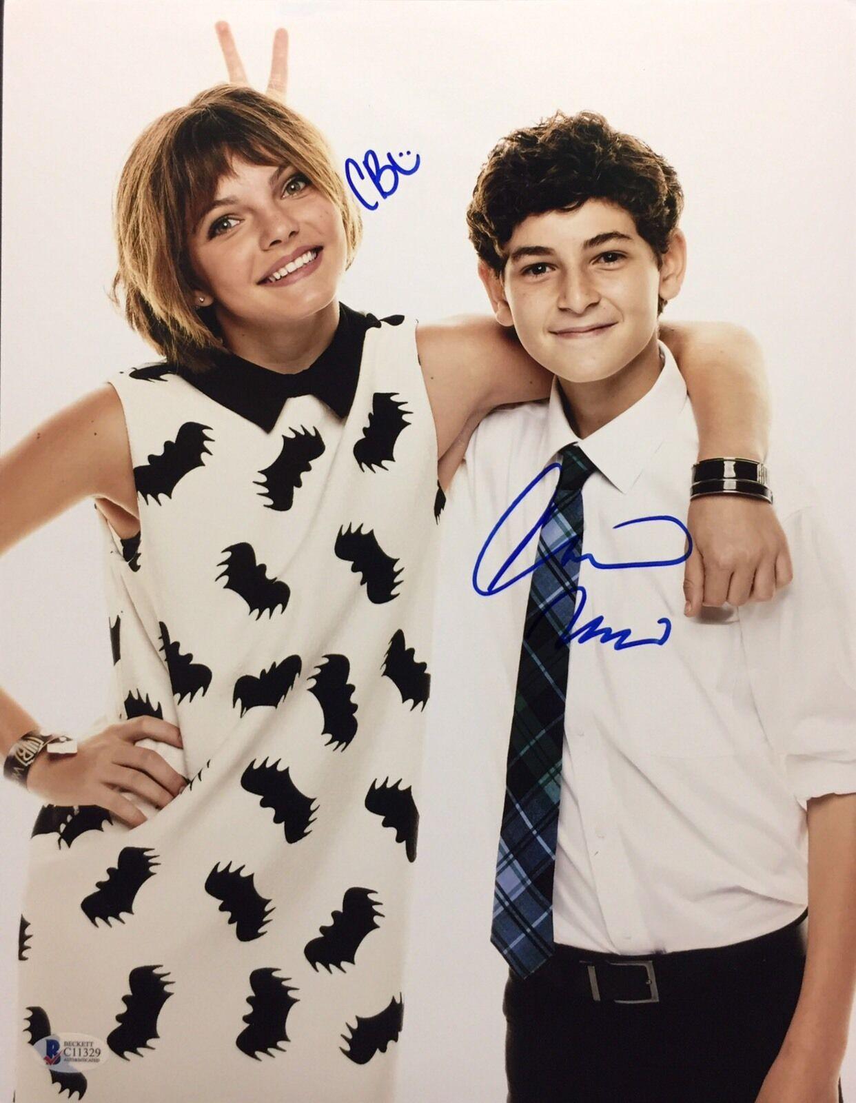 Camren Bicondova And David Mazouz Signed Gotham 11x14 Photo Beckett C11329