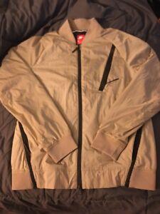 990a063db147 Nike Tech Hypermesh Varsity Jacket Mens Small Khaki Black 832190-235 ...