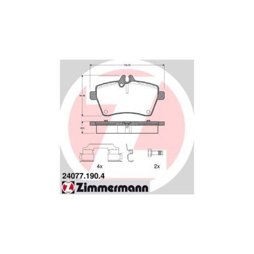 Zimmermann Bremsbeläge vorne Mercedes A-Klasse W169 B-Klasse W245