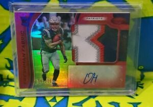 2019 Certified Red Damien Harris RPA /199! LETTER PATCH! AUTO RC 4 COLOR