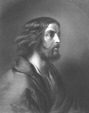 APOSTLE DISCIPLE STUDENT of Jesus Christ ~ Old 1853 BIBLE Art Print Engraving