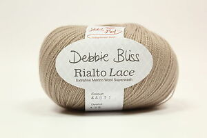 Debbie Bliss Rialto Lace Shade 31Stone 100 Extra Fine Merino Wool 10x50g Bag - <span itemprop=availableAtOrFrom>Chester, United Kingdom</span> - We will refund you the cost of your purchase only should there be a problem and as long as we are informed within a week of purchase. Happy knitting!! - Chester, United Kingdom