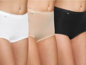 649165529 Sloggi Basic Womens Ladies Cotton Maxi Briefs Pants Knickers 4 Pair ...