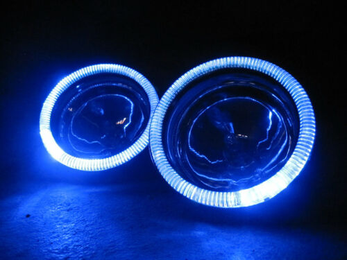2x Blue LED Addon Angel Eye Headlight Halo Rings for Kawasaki Brute Force