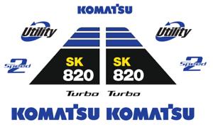 KOMATSU SK 820 DECAL KIT STICKER SET