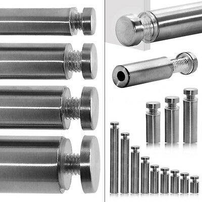 "Steel Wall Spacer Fastening Glass Holder Photos Ø 2,5cm//0,98/"" Hollow Standoff"