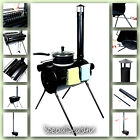 Wood Stove Portable Heater Tent Fire Camping Hunter Military Outdoor Cooking New