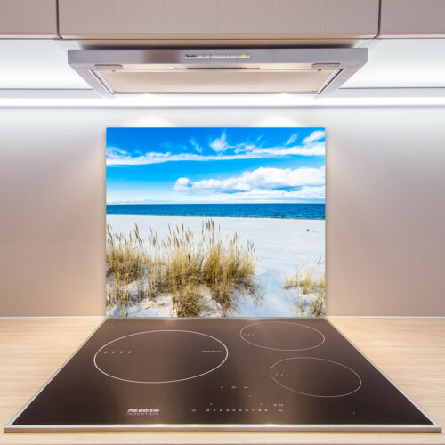 60x52 cm Herd-Abdeckplatte Glas Ceranfeld-Abdeckung Deko Meer Sandstrand