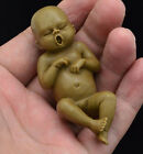 Full Body solid Platinum Resin reborn baby doll miniature, newborn Female 7.5CM