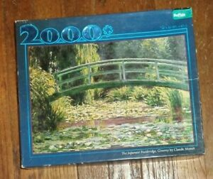 Buffalo 2000 piece jigsaw puzzle Claude Monet Lily Pond art painting
