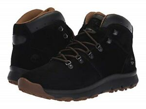 Details zu TIMBERLAND TB0A1QFL015 WORLD HIKER MID Mn's (M) Black Suede Hiking Boots