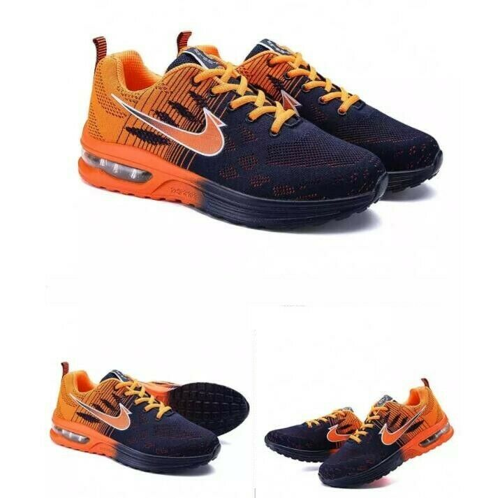 Fashion Mens Breathable Lace Up Athletic Sneakers Air Cushion Casual Sport shoes
