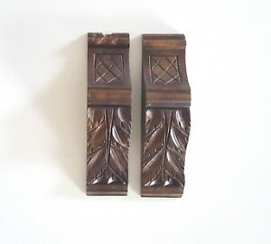 Details About Scroll Leaves 2 Wood Corbel Bracke Antique French Salvaged  Furniture Part 10.83