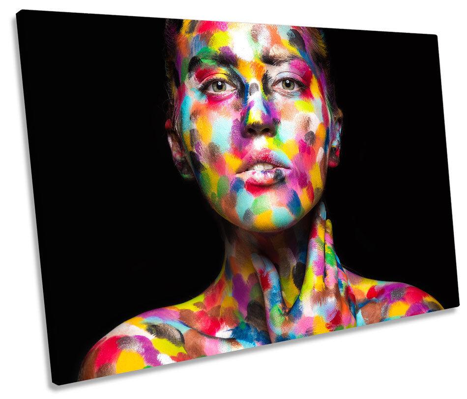Donna Sexy Body Paint Foto Tela Singola Wall Art Print