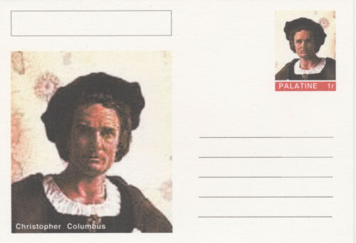 CINDERELLA 3945 COLUMBUS featured on fantasy Postal Stationery card