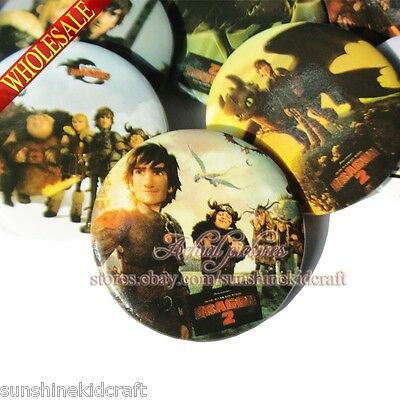 How to train your dragon 2 Tin Buttons pins badges,30MM,Round Brooch Badges Gift