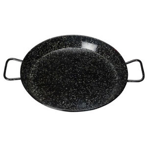 Winco-Enameled-Carbon-Steel-Paella-Pan-with-Riveted-Handle