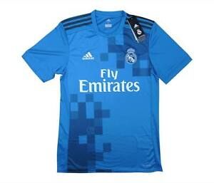 REAL MADRID 2017-18 Authentic THIRD SHIRT (Nuovo con Scatola) S Soccer Jersey