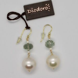 Yellow-Gold-Earrings-18K-750-Freshwater-Pearl-and-Prasiolite-Made-in-Italy