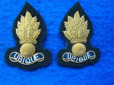 WWI AVIATION ARMY AIR FORCE OFFICER COLLAR BULLION WIRE BADGES