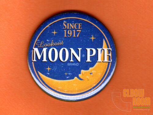 "One 2.25/"" round Moon Pie vintage look fridge//locker magnet buttons candy retro"