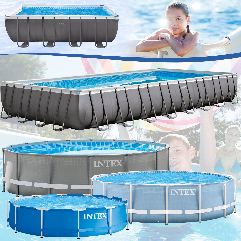 Intex 366x122 Stahlwand Schwimmbad | eBay