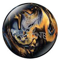Ebonite Cyclone Black Gold Silver Bowling Ball 1st Quality