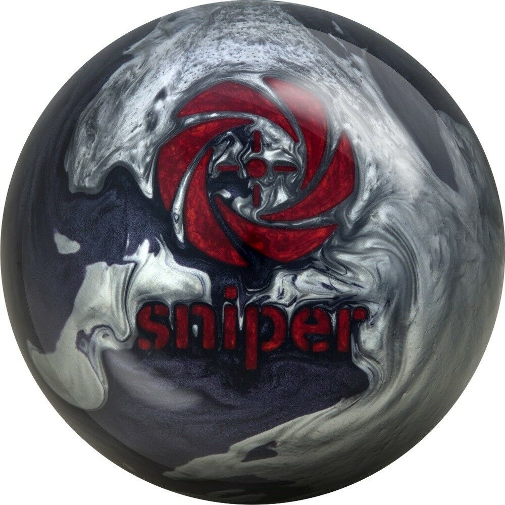 15lb Motiv Midnight Sniper Spare Ball Ideal Dry Lane Bowling Ball