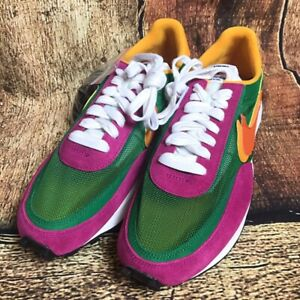 NIKE SACAI LD WAFFLE GREEN PURPLE | Hype Clothinga | Sneakers