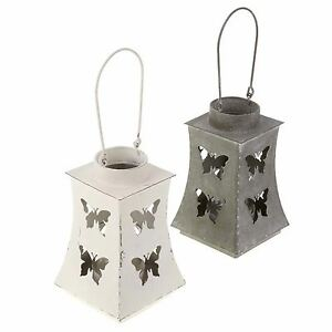 Shabby-Chic-Cut-Out-Butterfly-Tealight-Lanterns-Black-or-White-FFE039
