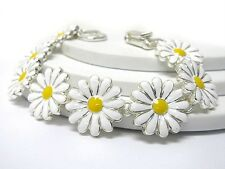 G13 Flower Floral Daisy Yellow Magnetic Clasp BRACELET Link