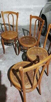 N. 4 sedie in paglia di Vienna modello thonet ORIGINALI ...