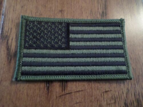 U.S MILITARY ARMY MARINE CORPS AMERICAN FLAG ARM PATCH SUBDUE OD GREEN